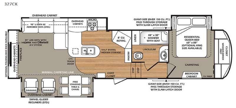 Wildcat 327CK Floorplan Image