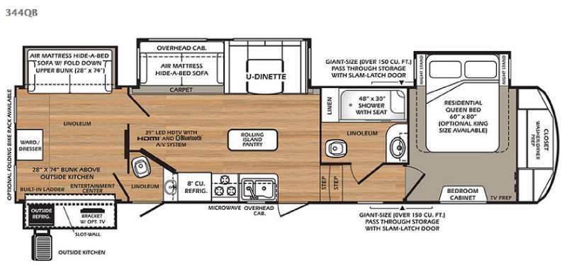 Wildcat 344QB Floorplan Image