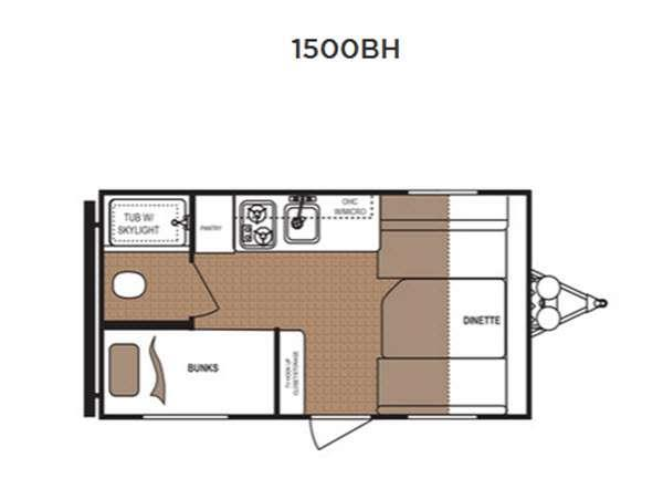 Floorplan - 2015 Dutchmen RV Aspen Trail 1500BH Mini