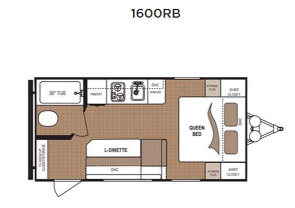 Aspen Trail 1600RB Floorplan Image