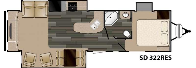 Sundance 322RES Floorplan