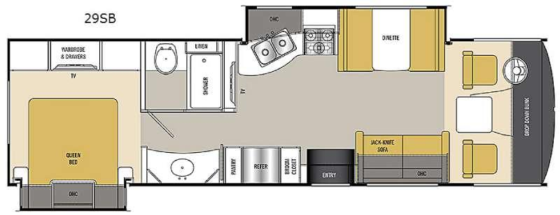 Floorplan - 2015 Coachmen RV Pursuit 29 SB