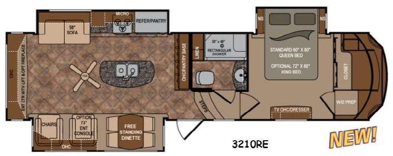 Floorplan - 2015 Dutchmen RV Infinity 3210RE