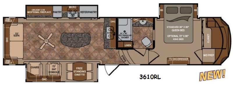 Floorplan - 2015 Dutchmen RV Infinity 3610RL