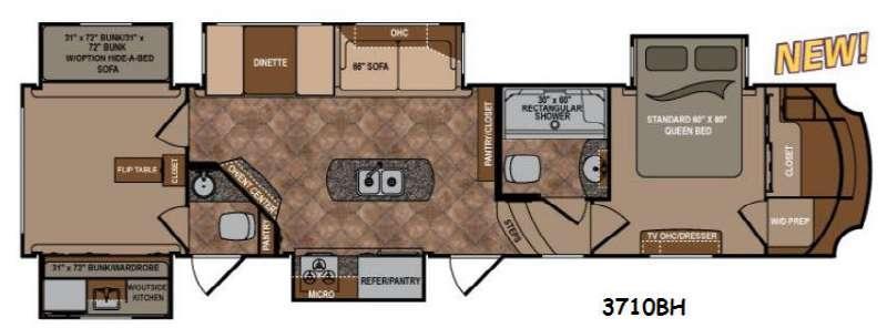 Floorplan - 2015 Dutchmen RV Infinity 3710BH