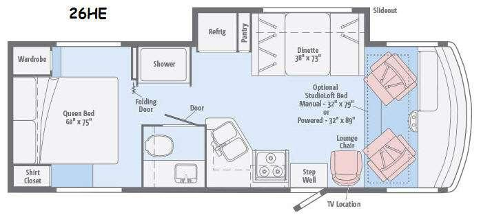 Floorplan - 2015 Itasca Sunstar 26HE
