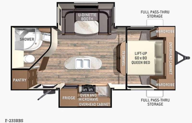 Floorplan - 2015 Cruiser Fun Finder F-233RBS