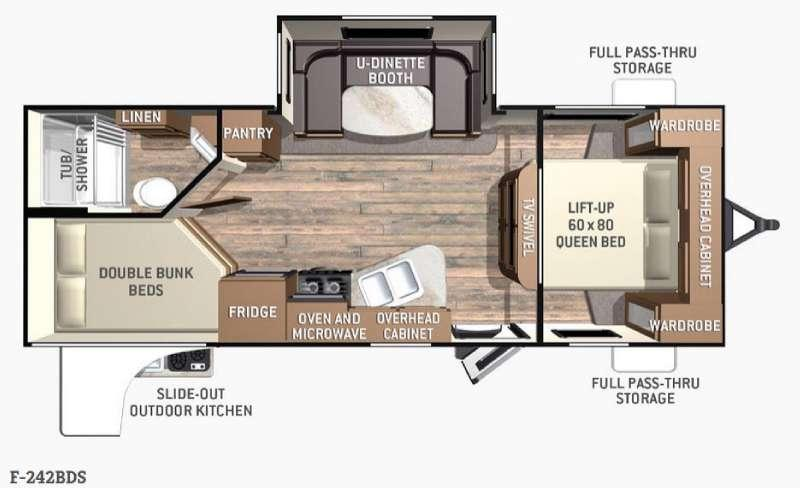 Floorplan - 2015 Cruiser Fun Finder F-242BDS