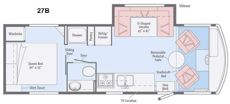 Floorplan - 2015 Winnebago Brave 27B