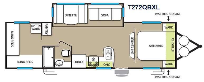 Floorplan - 2015 Forest River RV Wildwood X-Lite 272QBXL