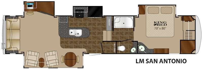 Floorplan - 2015 Heartland Landmark San Antonio