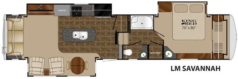 Floorplan - 2015 Landmark Savannah Fifth Wheel