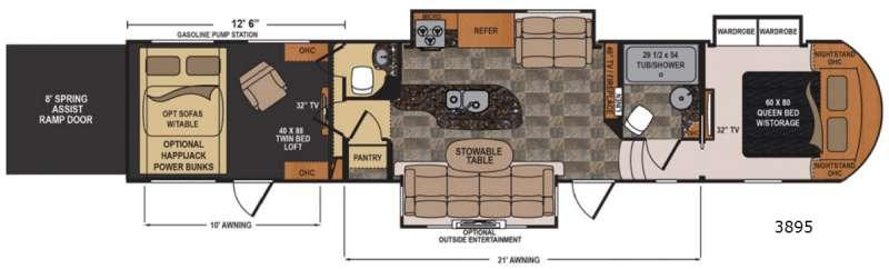 Floorplan - 2015 Dutchmen RV Voltage V3895