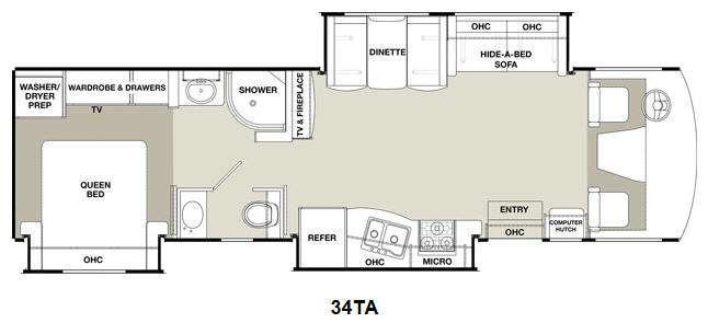 Floorplan - 2015 Coachmen RV Encounter 34TA