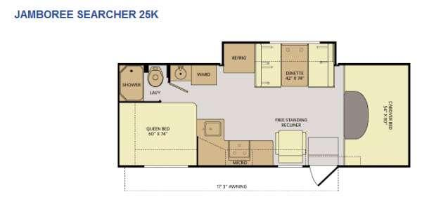 Floorplan - 2015 Fleetwood RV Jamboree Searcher 25K