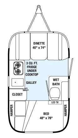 Floorplan - 2015 Airstream RV Sport 16