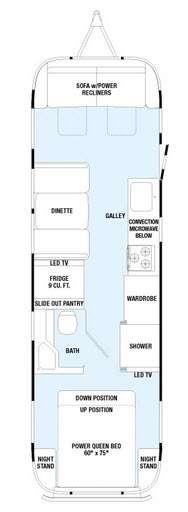 Floorplan - 2015 Airstream RV Classic 30