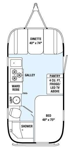 Floorplan - 2015 Airstream RV International Serenity 19