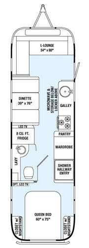 Floorplan - 2015 Airstream RV International Serenity 30