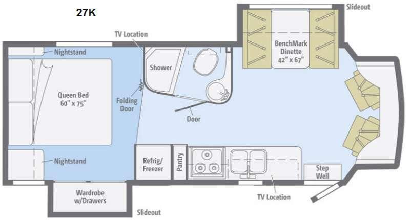 Floorplan - 2015 Winnebago Aspect 27K