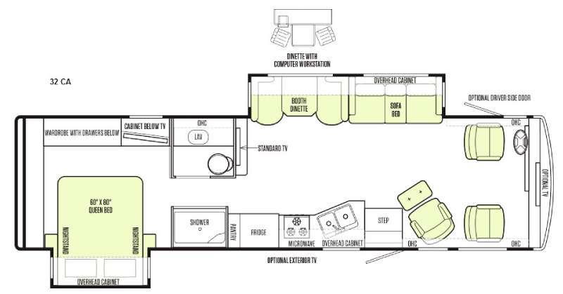 Floorplan - 2015 Tiffin Motorhomes Allegro 32 CA