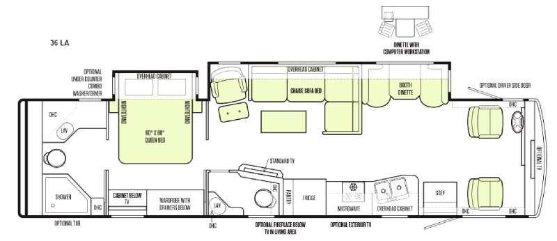 Floorplan - 2015 Tiffin Motorhomes Allegro 36 LA
