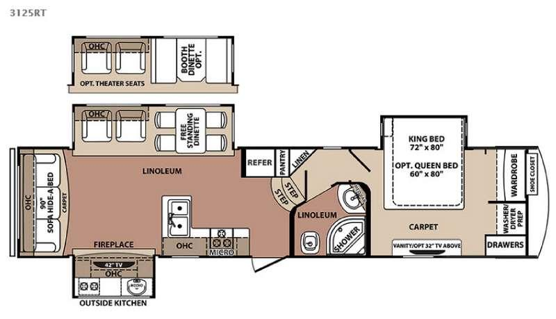 Floorplan - 2015 Forest River RV Blue Ridge 3125RT