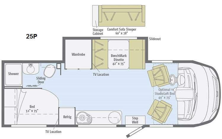 Floorplan - 2015 Winnebago Via 25P