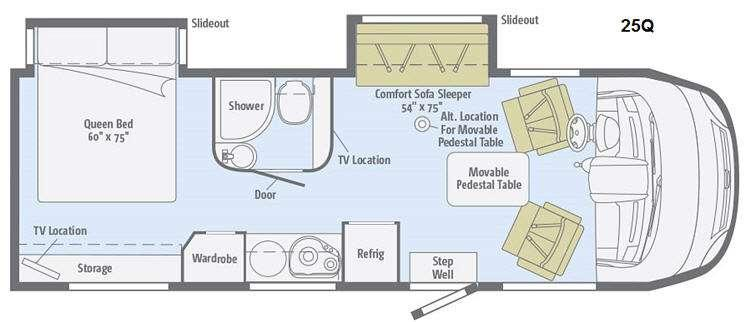 Floorplan - 2015 Winnebago Via 25Q