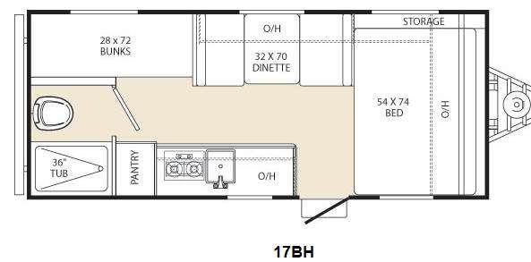 Floorplan - 2015 Coachmen RV Viking Ultra-Lite 17BH