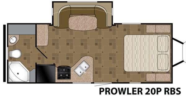 Floorplan - 2015 Prowler 20 RBS Travel Trailer