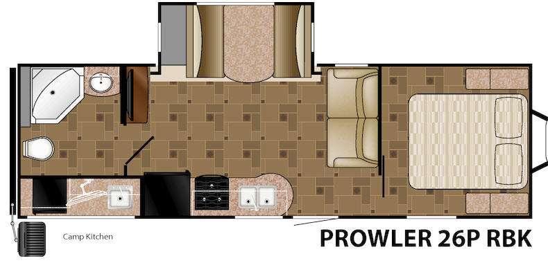 Floorplan - 2015 Heartland Prowler 26P RBK