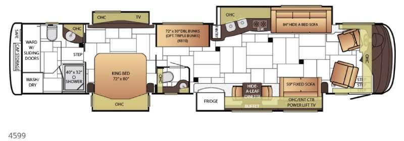 Floorplan - 2015 King Aire 4599 Motor Home Class A - Diesel
