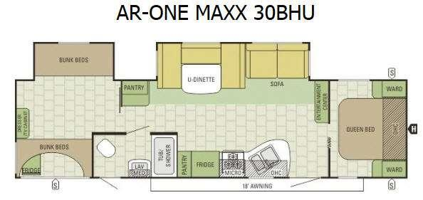 Floorplan - 2015 Starcraft AR-ONE MAXX 30BHU