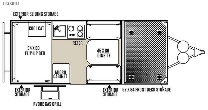Floorplan - 2015 Forest River RV Flagstaff Hard Side T12RBTH