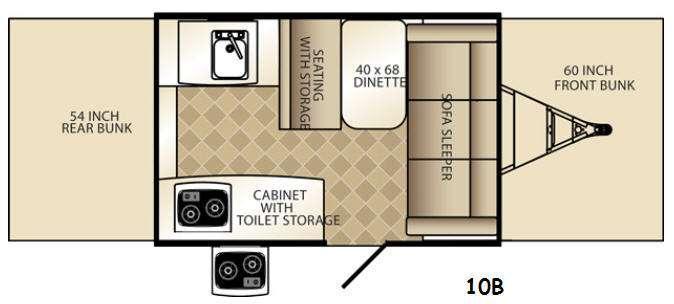 Floorplan - 2015 Palomino Basecamp 10B