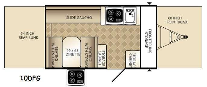 Floorplan - 2015 Palomino Basecamp 10DFG