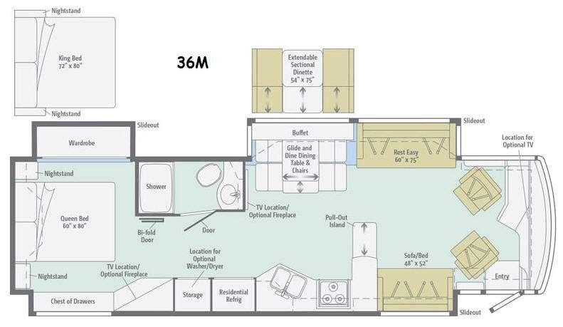 Floorplan - 2015 Winnebago Journey 36M