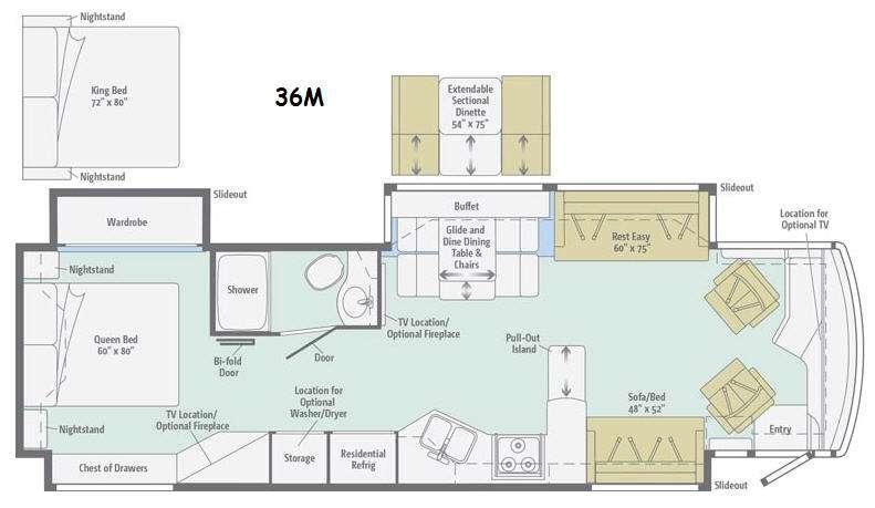 Floorplan - 2015 Winnebago Journey 36M