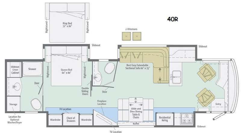 Floorplan - 2015 Winnebago Journey 40R