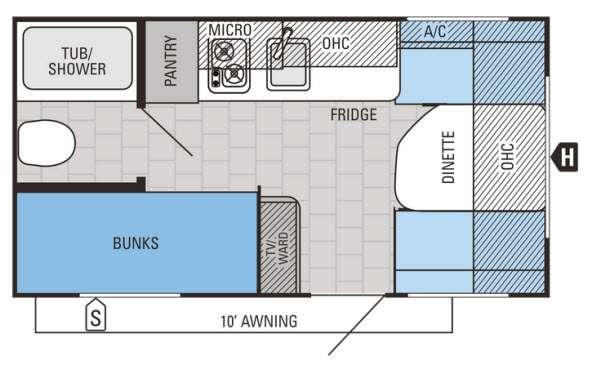 Floorplan - 2015 Jayco Jay Flight SLX 154BH