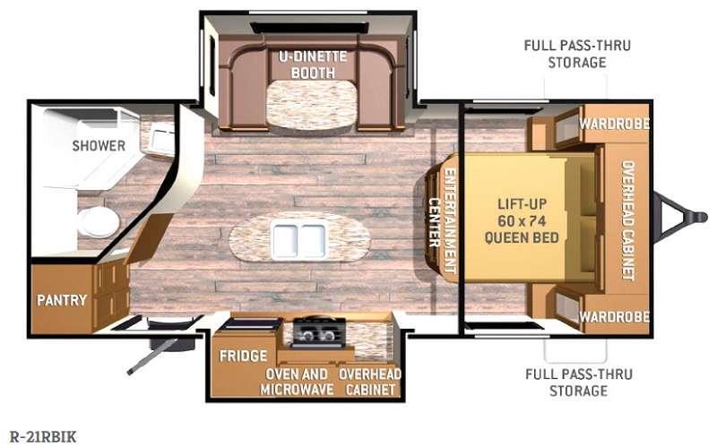 Floorplan - 2015 Cruiser Radiance R-21RBIK