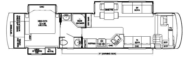 Floorplan - 2007 Newmar Dutch Star DSDP 4035