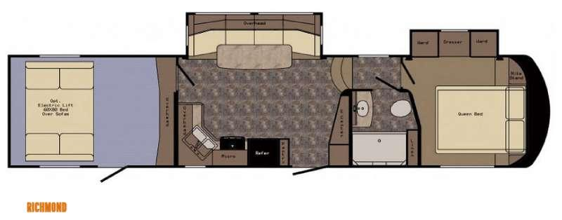 Floorplan - 2015 CrossRoads RV Elevation TF 3412