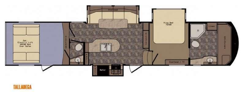 Floorplan - 2015 CrossRoads RV Elevation TF 3810