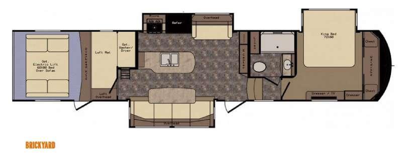 Floorplan - 2015 CrossRoads RV Elevation TF 3812