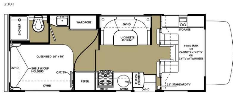 Floorplan - 2015 Forest River RV Forester 2301 Chevy