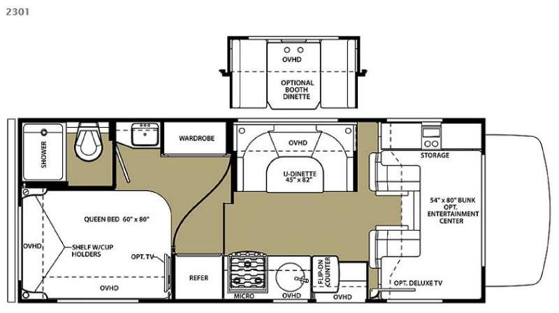 Floorplan - 2015 Forest River RV Forester 2301 Ford