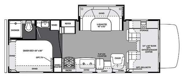 Floorplan - 2015 Forest River RV Forester 2451S Ford