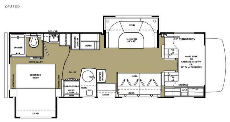 Floorplan - 2015 Forest River RV Forester 2701DS Ford